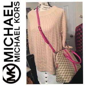 🆕NWT MICHAEL KORS Large Dome Satchel Multi Pink